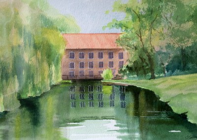 Aylsham Mill, Norfolk. Sketch