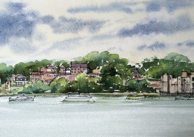 Upnor Castle and village,on the Medway