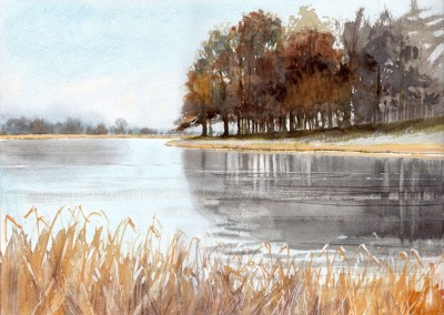 Blickling Lake in Winter