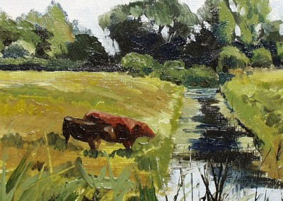 Cows by a Dyke, Oby