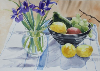 Irises and Lemons