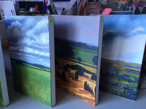 Prints on stretched canvas