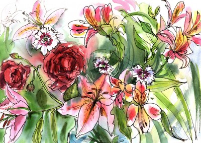 Roses and Lillies